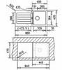 Мойка кухонная TEKA Kea 45 B-TG - схема