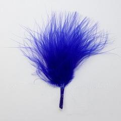 Перья декоративные (цвет - синий) 7-10 см, 5 гр (около 43 шт)