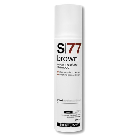 NAPURA Coloring S77 Brown shampoo Оттеночный шампунь для коричневых оттенков (SLS free) 200 мл купить за 2590руб