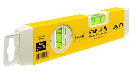 Уровень магнитный тип  70ТM, 22см, (2 глазка,  точн. 0,5мм/м) STABILA, Германия