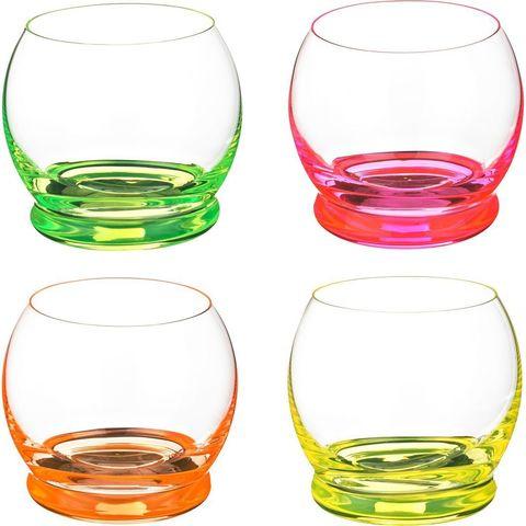 Набор цветных стаканов для воды Crystalex Crazy, 390 мл, 4 шт