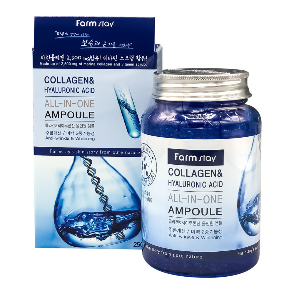 FARM STAY Сыворотка для лица Collagen многофункциональная Farmstay COLLAGEN&HYALURONIC ACID ALL-IN ONE AMPOULE 250 мл eac504297fc565fcdbb373e2a59854e7.jpg