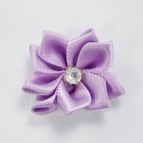 Цветочек сиреневый со стразом 30 мм