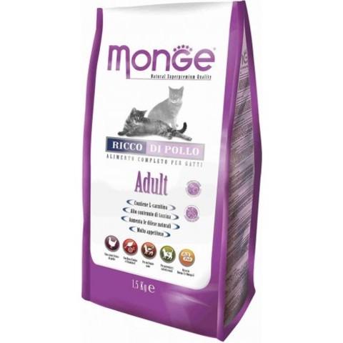 Monge Cat Adult cухой корм для взрослых кошек с курицей и рисом 10 кг
