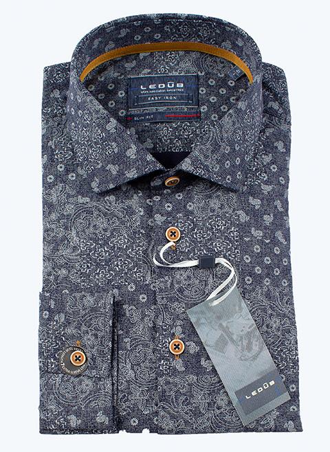 Рубашка Ledub slim fit 0137410-180-630-000