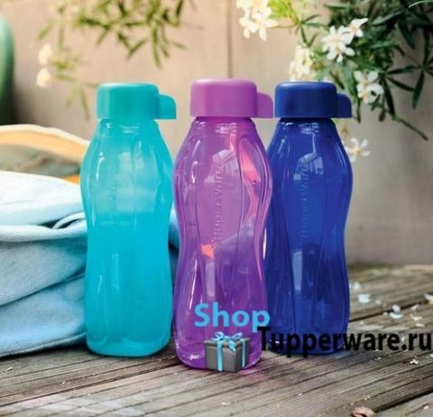 набор разноцветных бутылок эко мини 310мл