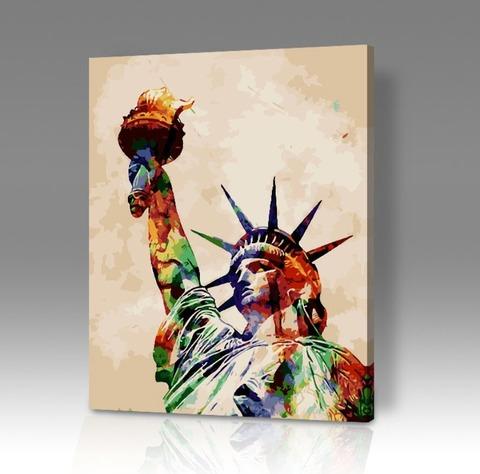 Картина по номерам на холсте Статуя Свободы, 40см*50см
