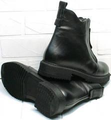 Осенние полуботинки черные женские Tina Shoes 292-01 Black.