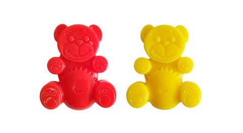 Игрушки желейный медведь Валера и Желтобрюх