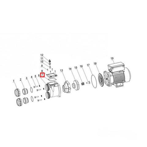 Уплотнительное кольцо крышки насоса Aquaviva XDA / 20191