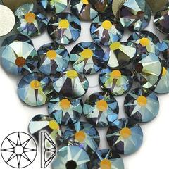 Купить стразы оптом серые Xirius Black Diamond AB