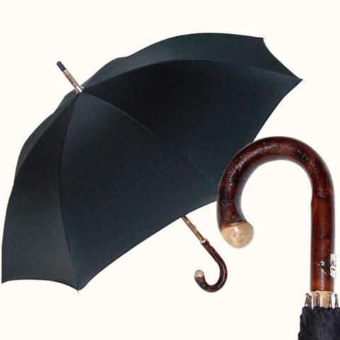 черный мужской зонт премиального класса