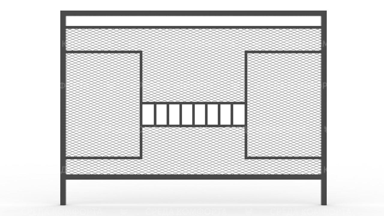 Забор из сетки рабицы ZBR0194