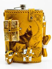 Фляга «Волк», набор 6 предметов, 1,9 л, фото 6