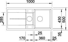 Мойка Blanco Metra 6S схема