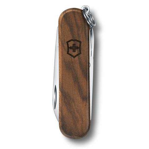 Нож-брелок Victorinox Classic SD, 58 мм, 5 функций, рукоять из орехового дерева