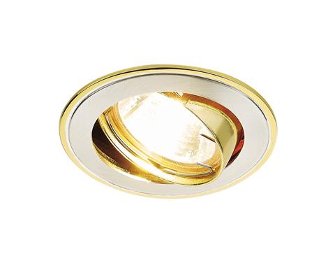 Встраиваемый точечный светильник 104A SS/G сатин серебро/золото MR16