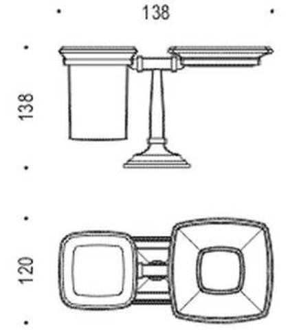 Мыльница+стакан Colombo Portofino  B3240 хром схема