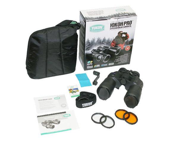 Комплект поставки бинокляYukon Pro 10 0 WA