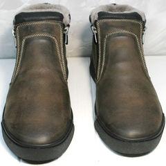 Зимние ботинки мужские коричневые Rifellini Rovigo 046 Brown Black