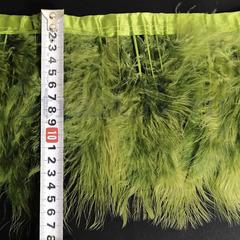 Купить оптом перья Марабу на ленте Olivine Оливковый в интернет-магазине