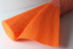 Бумага гофрированная простая оранжевый (581), 50 см./250 см.