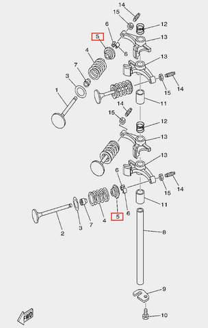 Тарелка пружины клапана для лодочного мотора F20 Sea-PRO (5-5)