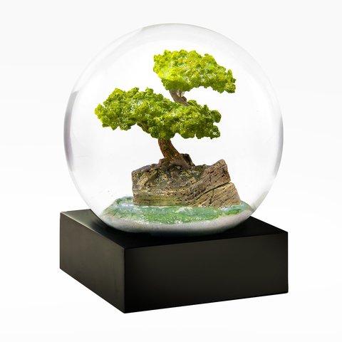 Коллекционный стеклянный снежный шар Бонсай