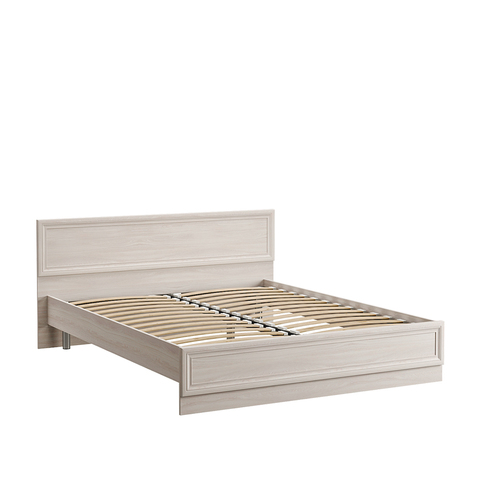 Кровать двойная Бьянка 01.36 160 Моби 160х200 ясень анкор MX 1879, ясень анкор арктик