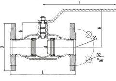 Конструкция LD КШ.Ц.Ф.GAS.025.040.П/П.02 Ду25