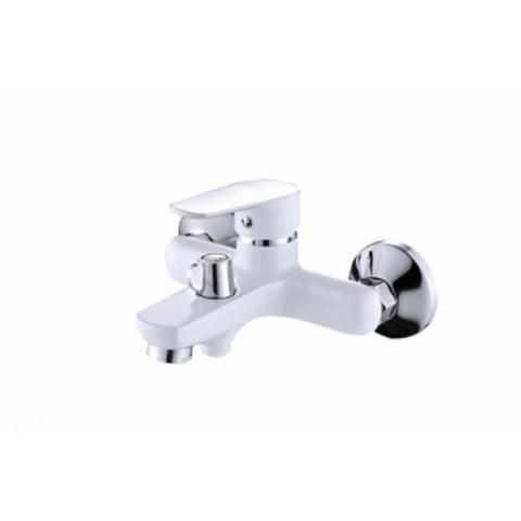 VIKO 4142, смеситель для ванны, короткий излив, картридж ф35, цвет хром+белый Chrome+White