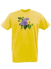 Футболка с принтом Цветы (Сирень) желтая 002