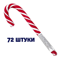 Леденец Трость Новогодняя ментоловая (блок 72 шт.)