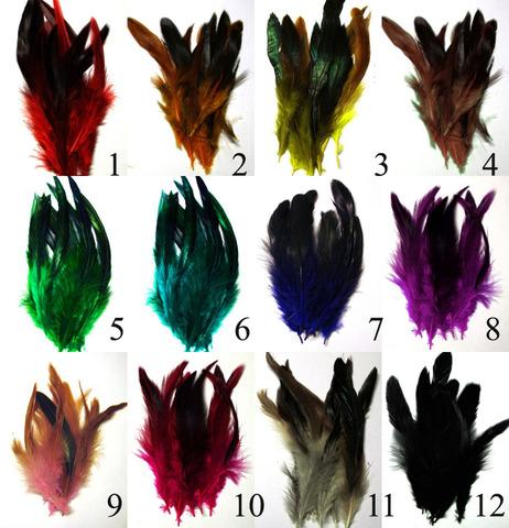 Перья петуха, до 12 см. (10 шт.),(выбрать цвет)