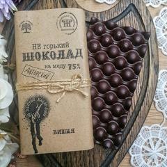 Шоколад на меду с вишней / 65 гр