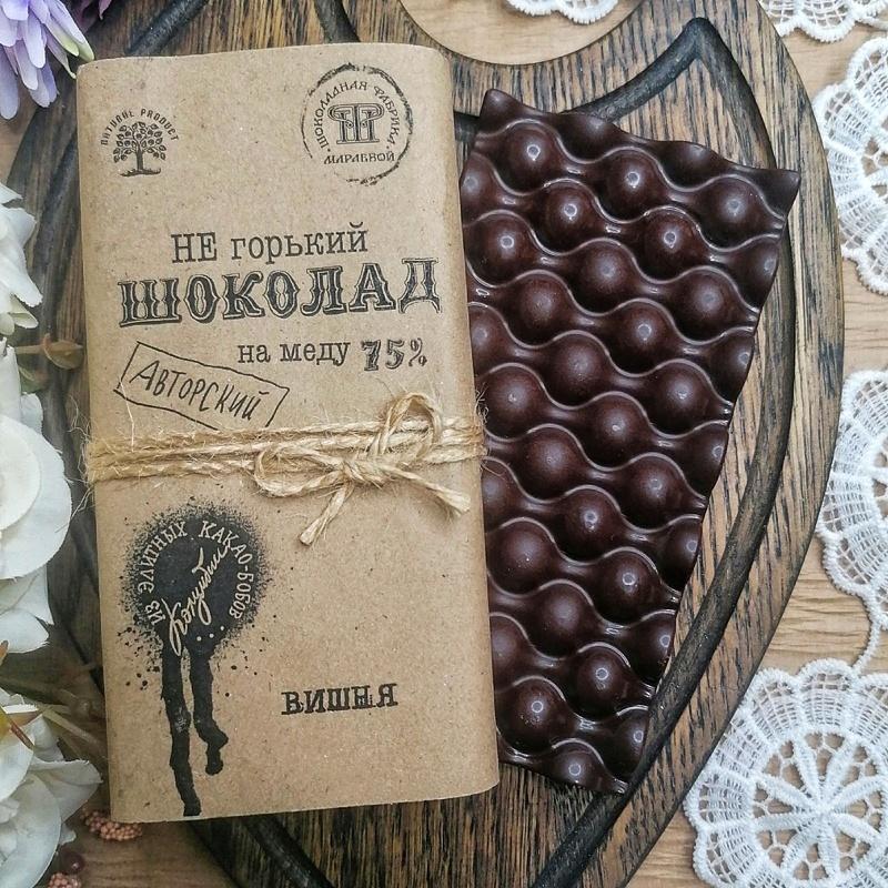 Фотография Шоколад на меду с вишней / 65 гр купить в магазине Афлора