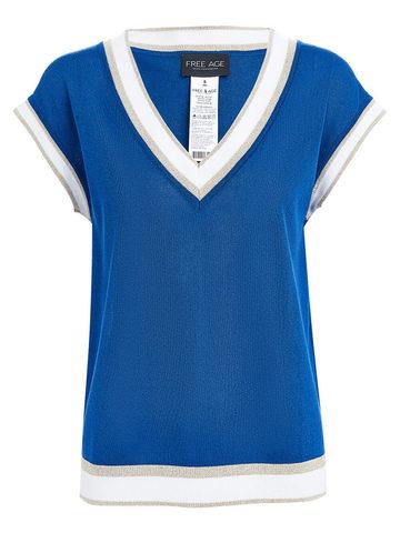 Женский джемпер синего цвета из вискозы - фото 1