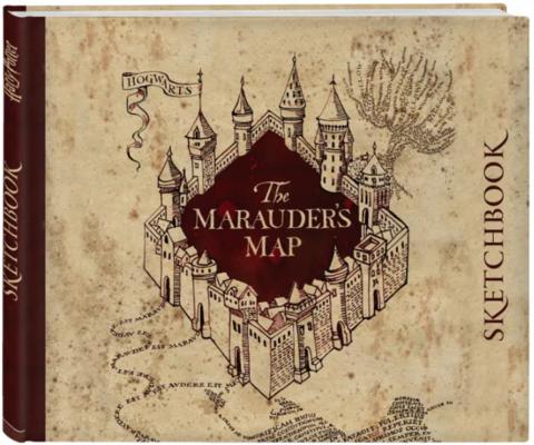 Скетчбук Гарри Поттер. Карта мародеров