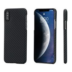 Чехол Pitaka MagCase для iPhone XS/X Twill (черно-серый)