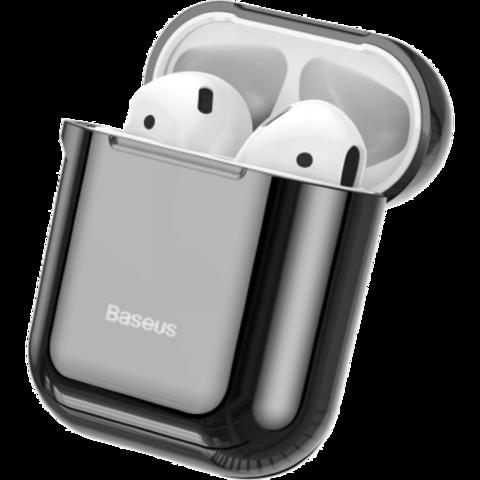 Baseus / Чехол Shining Hook Case для Apple Airpods с крюком-карабином | черный