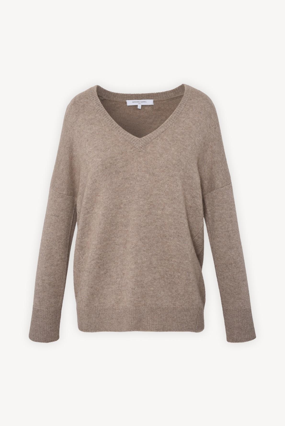DALLY - Кашемировый свитер оверсайз с V-образным вырезом
