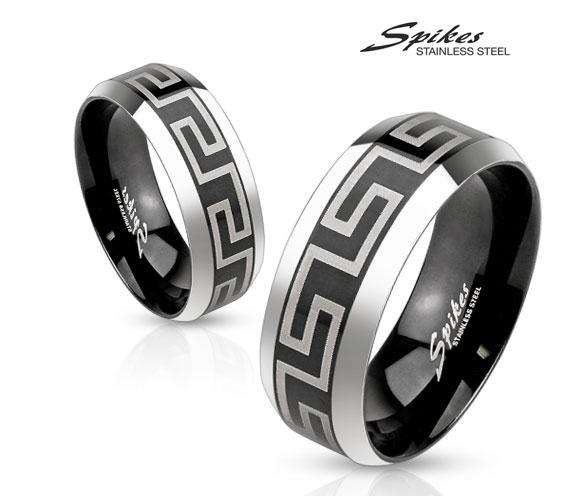 R-M3651 Мужское кольцо из ювелирной стали с орнаментом, «Spikes»