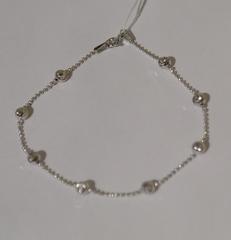 Перлина с шариками (серебряный браслет )