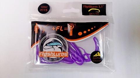 Силиконовая приманка FreshLures FlipWorm цвет 115, вкус сыра