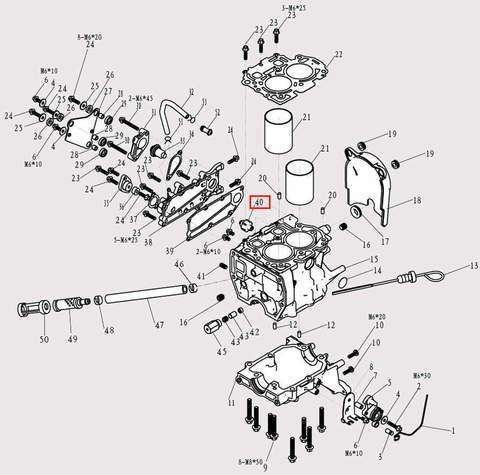 Датчик давления масла для лодочного мотора F9.8 Sea-PRO (3-40)