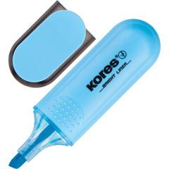 Текстовыделитель Kores синий (толщина линии 1-5 мм)