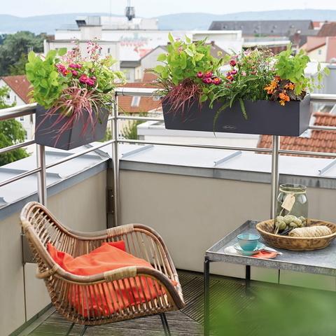 15695 Кашпо LECHUZA Балконера Колор 50 Пастельно-зеленое все-в-одном