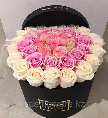 Коробка Maison Des Fleurs с розами 34