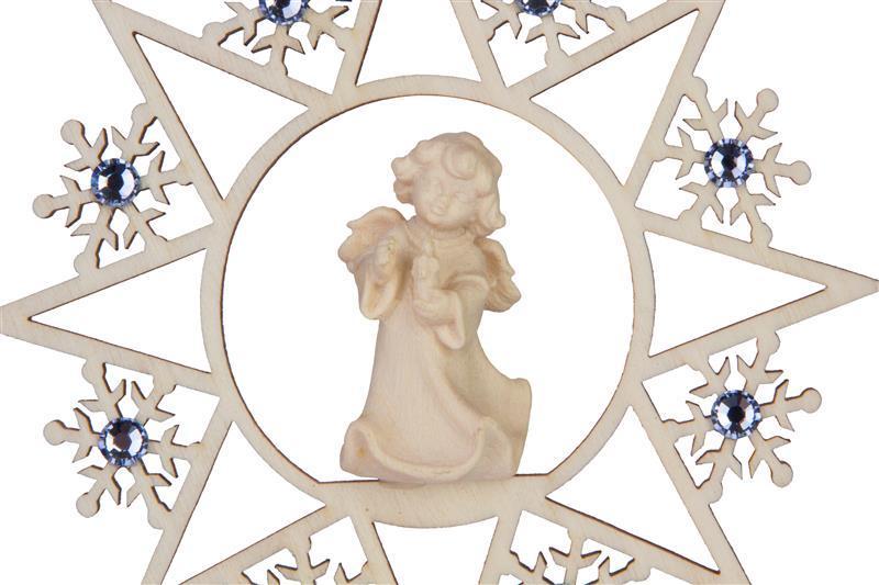 Ангел со свечей со стразами Сваровски