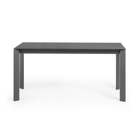 Стол Atta 160 (220) x90 антрацит, темно-серый, стекло
